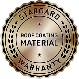 Roof Coating Material Warranty Badge
