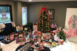 Gifts donated for the Child Advocacy Center Fundraiser