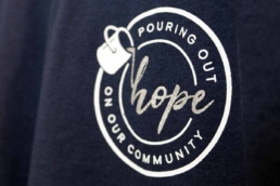 Pouring Out Hope on Our Community T-Shirt Design