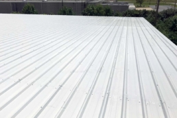 Completed Met-A-Sil metal roof coating system