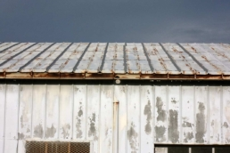 Metal roof affected by moderate rust