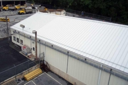 Acrylic roof coating on industrial metal metal