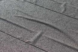 Blistering material on modbit flat roof