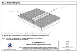 flat roof mastic detail drawing seam