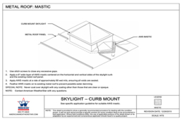 metal roof mastic detail drawing skylight curb mount