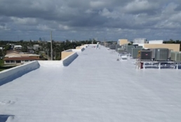 white envir-o-sil recoat on flat roof