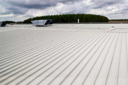 R-panel commercial metal roof