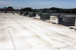 TPO material on a commercial flat roof