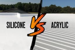 Silicone vs acrylic roof coating blog post header image