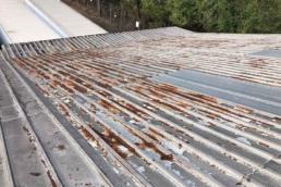 degraded metal roof