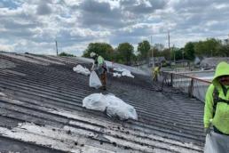 Metal roof prep phase